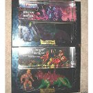 1981 He-Man and Battle Cat, 1982 Skeletor Panthor MOTU Giftset 2-Packs misb Vintage Reissues
