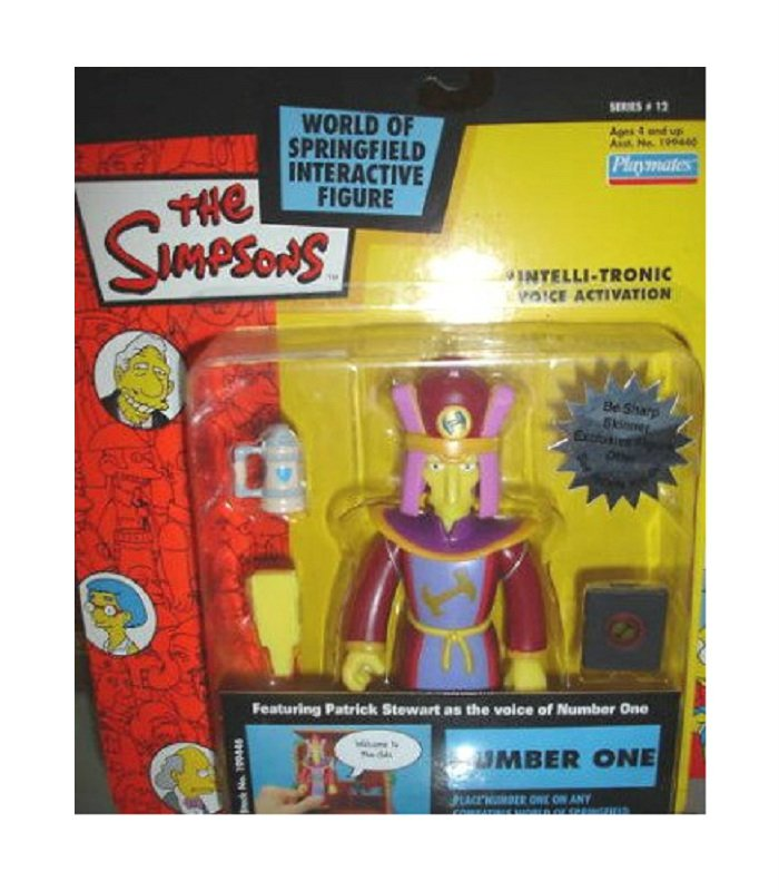 Stonecutter Number One Playmates Simpsons WoS Series 12 (Springfield) Patrick Stewart (DCC199446)