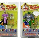 Sota Toys Street Fighter Series: Round 1 Set Web Exclusive 2004 SDCC Sodom (Grey Variant) & Chun-Li
