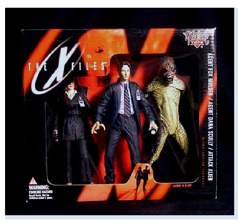 McFarlane (Spawn) X-Files 3-Pack Deluxe Box Set - 1998 Fox Mulder Dana Scully Alien E.T. UFO