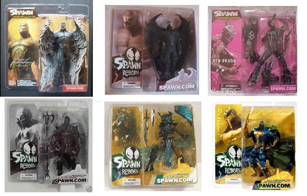 6pc Set Capullo McFarlane Toys Spawn 21 Reborn Wings Redemption lot | DC Collectibles