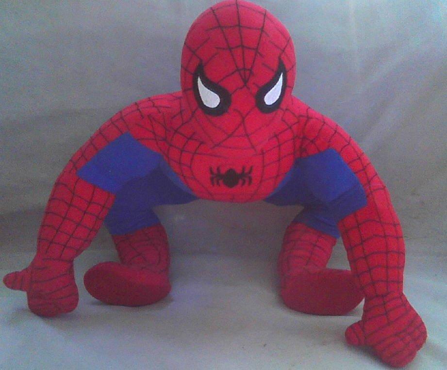 "Spider-Man Marvel Jumbo-Univeral Studios-21"" Giant Stuffed Doll Toy Spiderman Vintage"