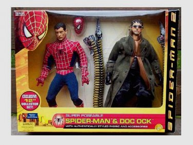 "Marvel 12"" Spider-Man Movie Superposeable Doc Ock 2 PK 2004| 1/6 Hot Toy Biz Sideshow Scale Figure"