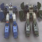 80's Gakken Japan Robotech Macross Mospeada Legioss  Alpha Fighters Green Blue Bernard Lancer