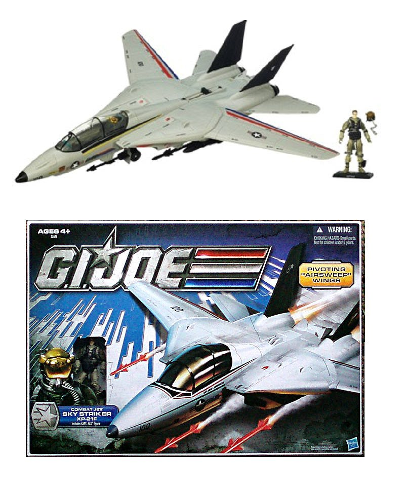 GI Joe Skystriker Jet 30th Anniversary Pursuit of Cobra PoC XP-21F Vehicle + Ace