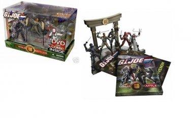 Gi Joe Ninja Battles - Arashikage Temple Dojo Playset + Cobra Black Dragon, Snake Eyes, Storm Shadow