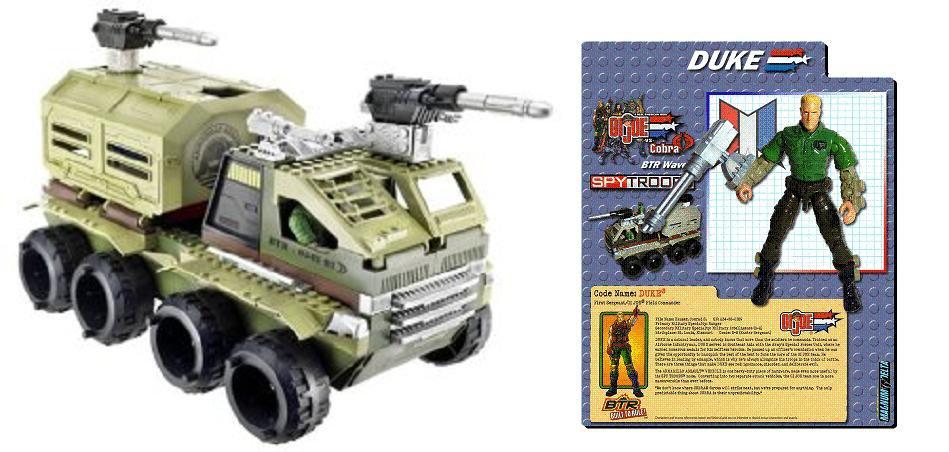 Lego BTR Kit 6508 GI Joe Cobra Armadillo Assault Vehicle + Duke 3.75 | Action Construction Brick Set
