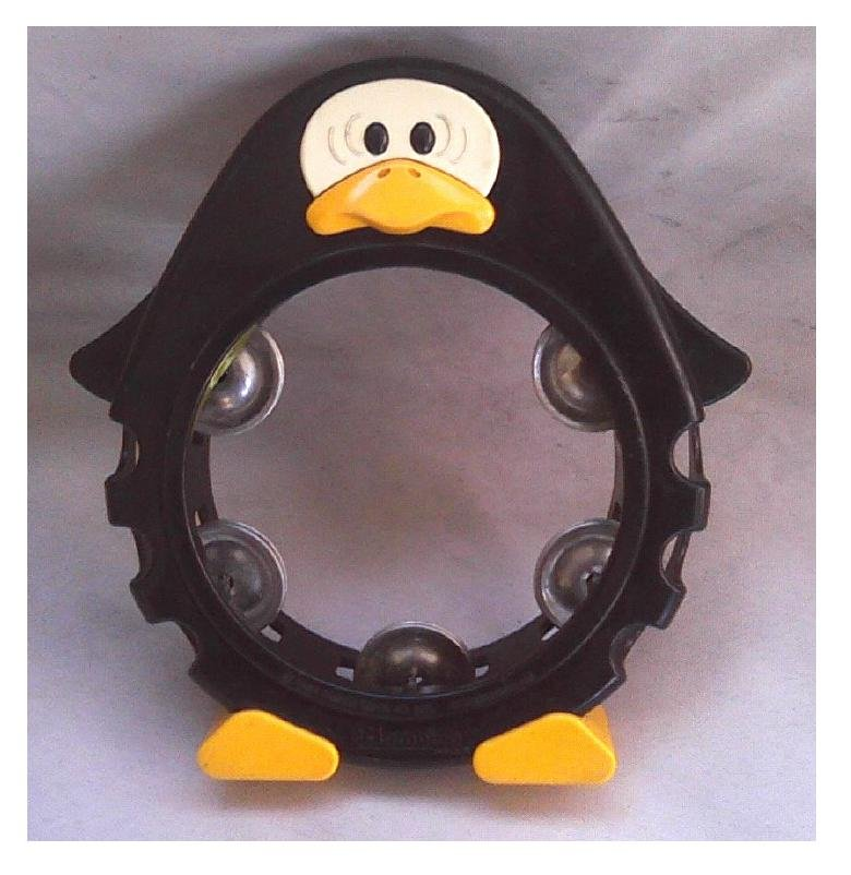 1984 Zen-On Kids' Percussion Plus Penguin Vintage 80s Musical Toy Tambourine Bambina