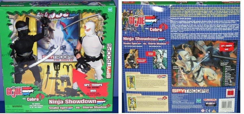 G I Joe Cobra 2003 Ninja Showdown Snake+Eyes vs Storm+Shadow 12