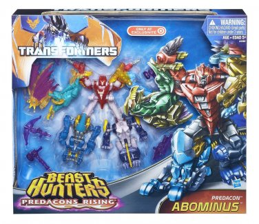 Transformers 30th Prime-Beast Hunters Abominus Combiner Giftset-Cyberverse Legends Legion Predacon