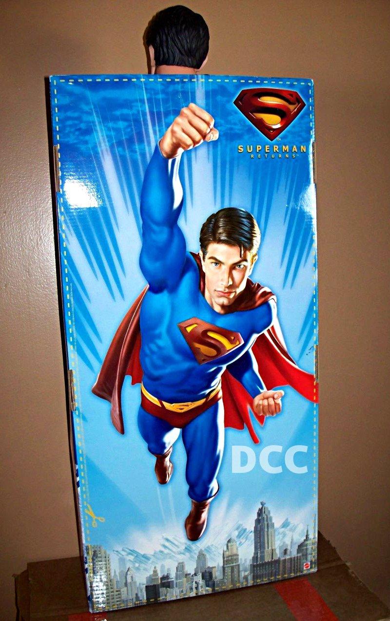 "Giant 30"" Superman Poseable Figure, Premium Format Jumbo Shogun-Brandon Routh-DC Legends 2006 Mattel"