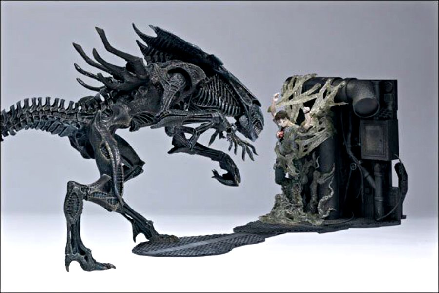 "Queen Alien Deluxe Figure Diorama Set 1986 Movie McFarlane - Neca 18"" Predator (Giger, Stan Winston)"