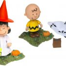 Peanuts Memory Lane Great Pumpkin Charlie Brown/Lucy Figures in Halloween Costumes