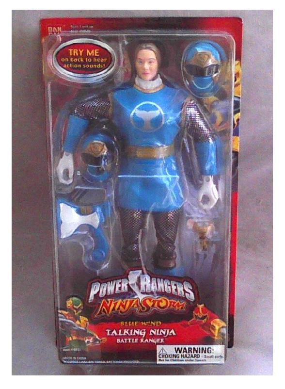 "Power Rangers sentai 2003 Ninja Storm 12"" Talking Blue Wind 1/6 Scale, Bandai 10513-Tori Hanson"