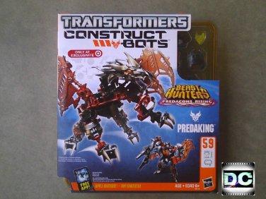 Beast Hunters Transformers (30th) Prime Predaking Predacon Leader, Construct-Bots Buildable Figure