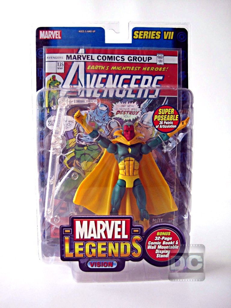 "Marvel Legends Vision (Series VII 7) + Avengers Comic � Toybiz 2004 - Marvel Universe 6"" 71121"