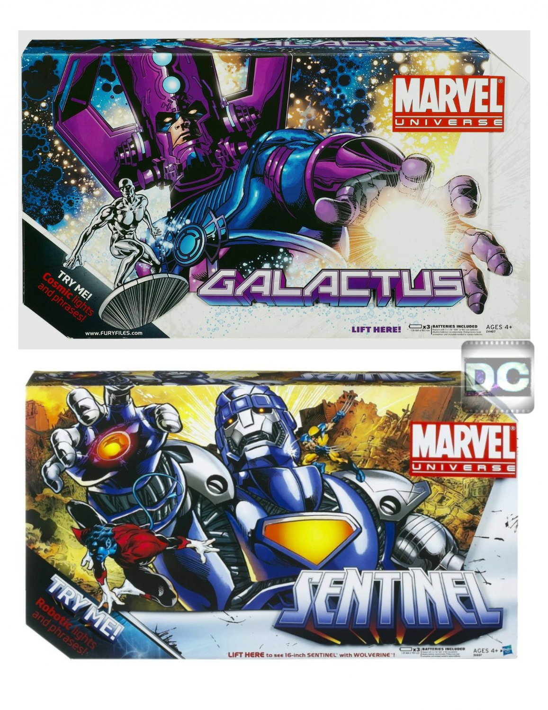 Marvel Legends Universe Masterworks > Galactus+Silver Surfer & Wolverine+Sentinel [Purple Variant]