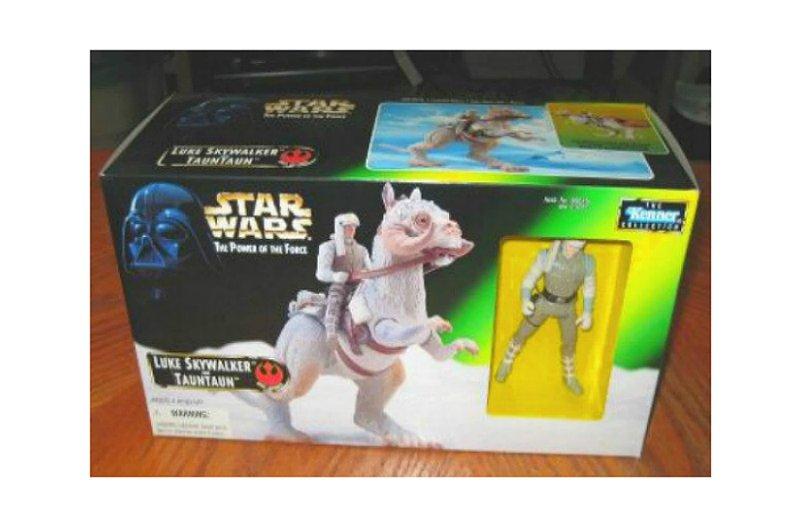 Luke Skywalker & Tauntaun, Star Wars Potf Hoth Beast 2 Pack, Vintage Kenner 1997