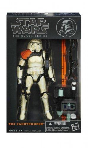 """Sandtrooper Squad Leader Star Wars Black Series 2013 6"""" #03 Wv 1 (Orange Line) Disney Hasbro A4305"""