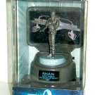 Star Trek: TWOK (1982 Movie)_fine pewter sculpture Khan statue + U.S.S. Reliant