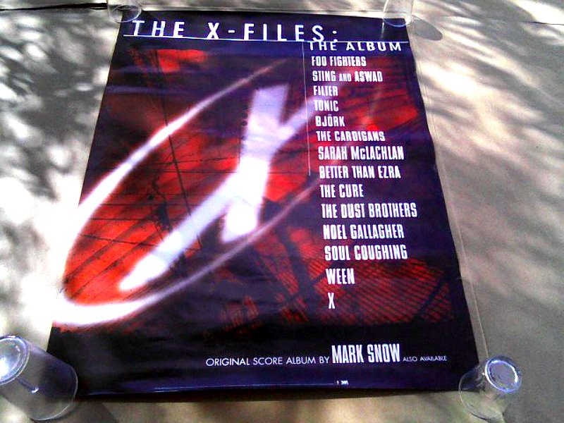 X-Files OST (1998) Movie Art Poster [promo] (Snow, Mulder Scully � Duchovny Anderson) - Vintage