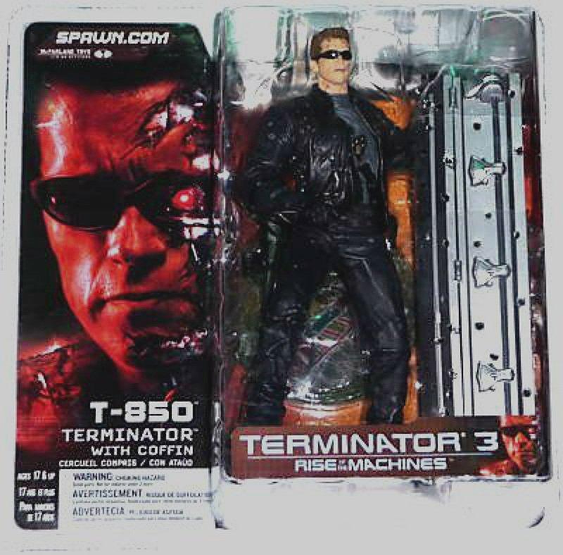 "T-850 Coffin Terminator 7"" inch figure T3 McFarlane Toys (Spawn) 2003| Neca| Schwarzenegger"