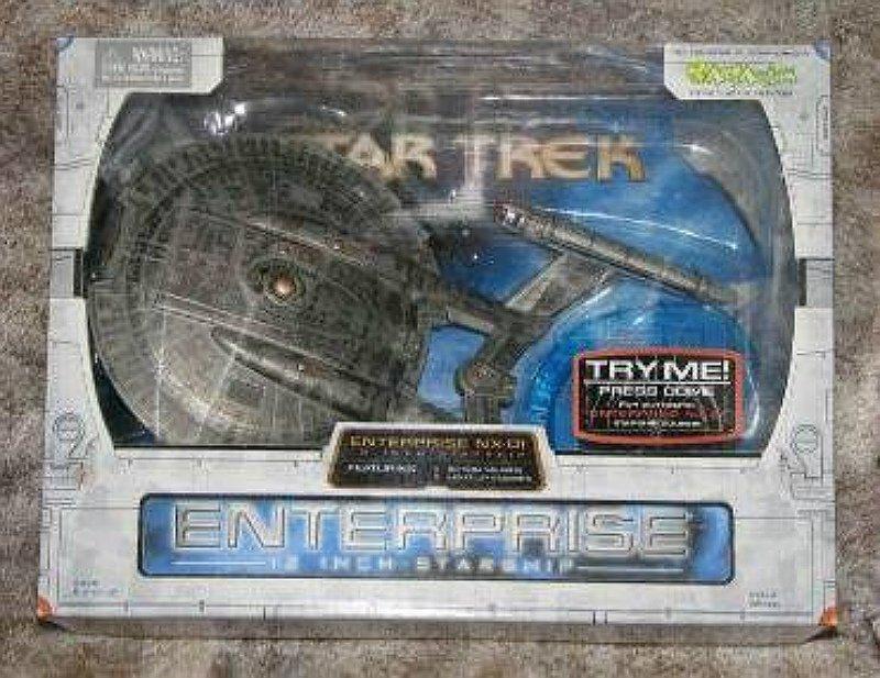 Enterprise NX-01 Starship 1/850 Model (Lights) � Star Trek DST Art Asylum Electronic Ship