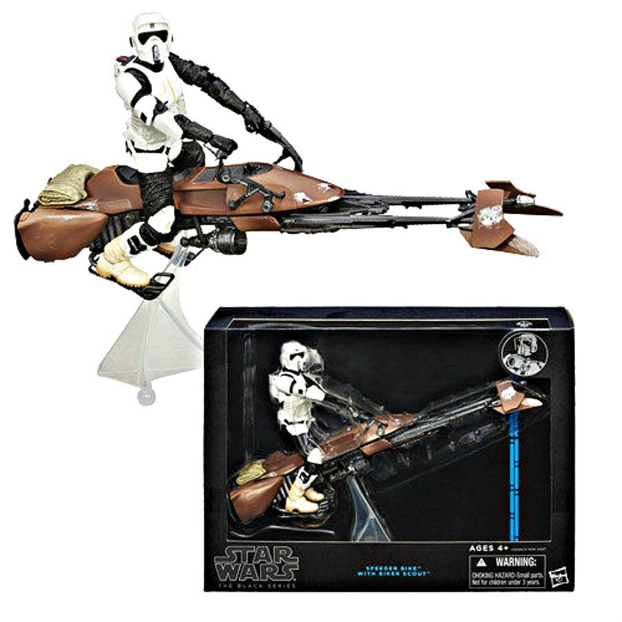 "Star Wars Black Series 6"" Action Figure > Speeder Bike & Scout Biker Trooper Deluxe Hasbro #A6588"