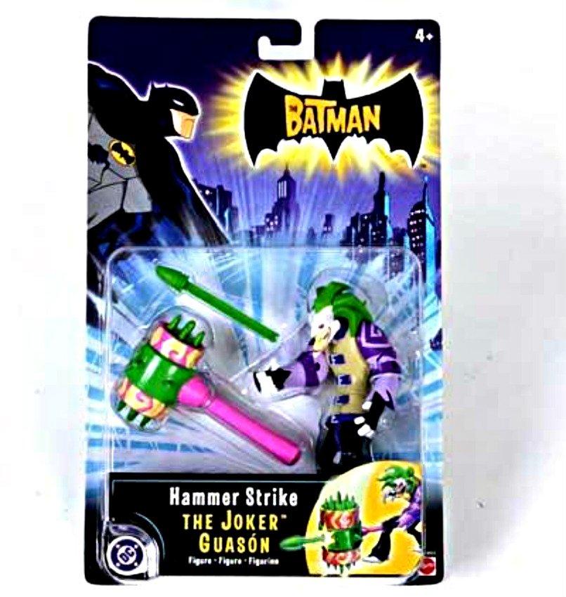 "The Batman ""Hammer Strike"" Joker Action Figure, 2004 Mattel G3433 DC WB Gotham Year 1 Arkham Villain"