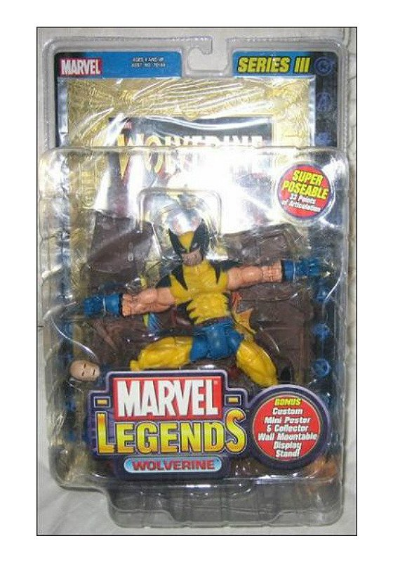 Wolverine Marvel Legends (Classic Tiger Stripe) Series 3 III (Jim Lee X-Men) Foil Variant 70156