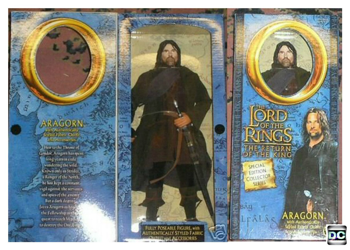 "Aragorn 12"" Doll LotR 1/6 Figure {Asmus-ACI-Sideshow-Hot Toys Scale} Lord of the Rings"