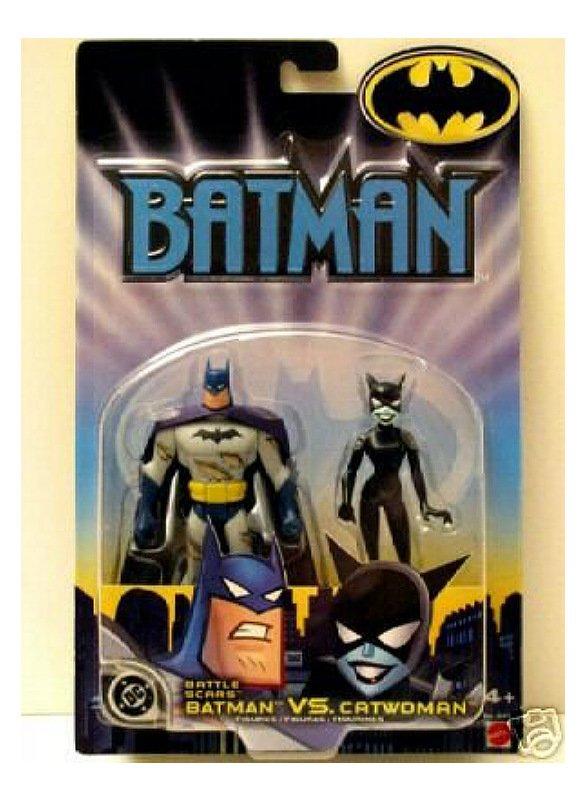 DCU B:TAS TNBA Catwoman vs Batman Animated Series 2-Pack Mattel 2002 New Adventures+JLU