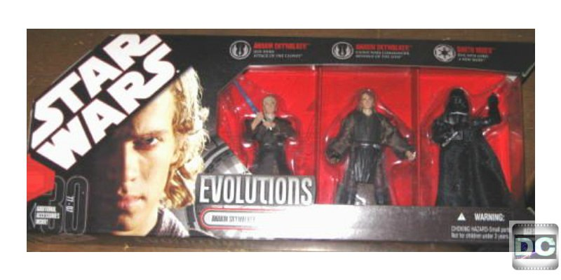 Star Wars 30th Evolutions: Legacy Sith 3-Pack Anakin Darth Vader RotS Deluxe Box Set by Hasbro