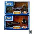 Hasbro Star Wars AotC Speeder Bike Set Saga Anakin Skywalker Swoop / Darth Tyranus Geonosian Dooku