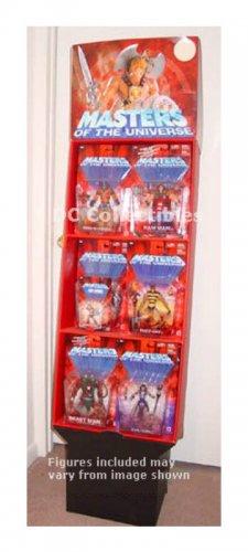 Motu Grayskull Store Display Case + Figures He-Man Mattel Vintage-She-Ra-200x-Legends Eternia-motuc