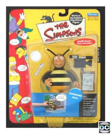 """The Simpsons WoS - Bumblebee Man 5"""" figure, Playmates 2001 World of Springfield 199216"""