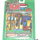 "GI Joe SpyTroops Switch Gears vs Cobra Commander 3.75"" Action Figure 2-Pack, Hasbro 2003"