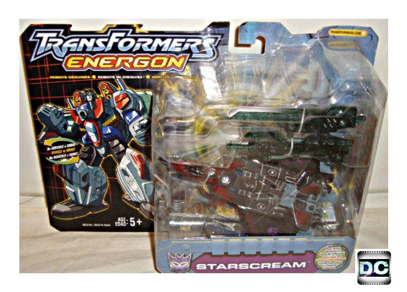 Transformers Energon Starscream (Dark/Black Ghost) 2003 RID Deluxe Decepticon Jet (Unicron Trilogy)