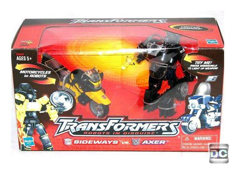 Transformers G2 Laser Rod Cycles (Sideways+Axer). RID Car Robots Series. Microman