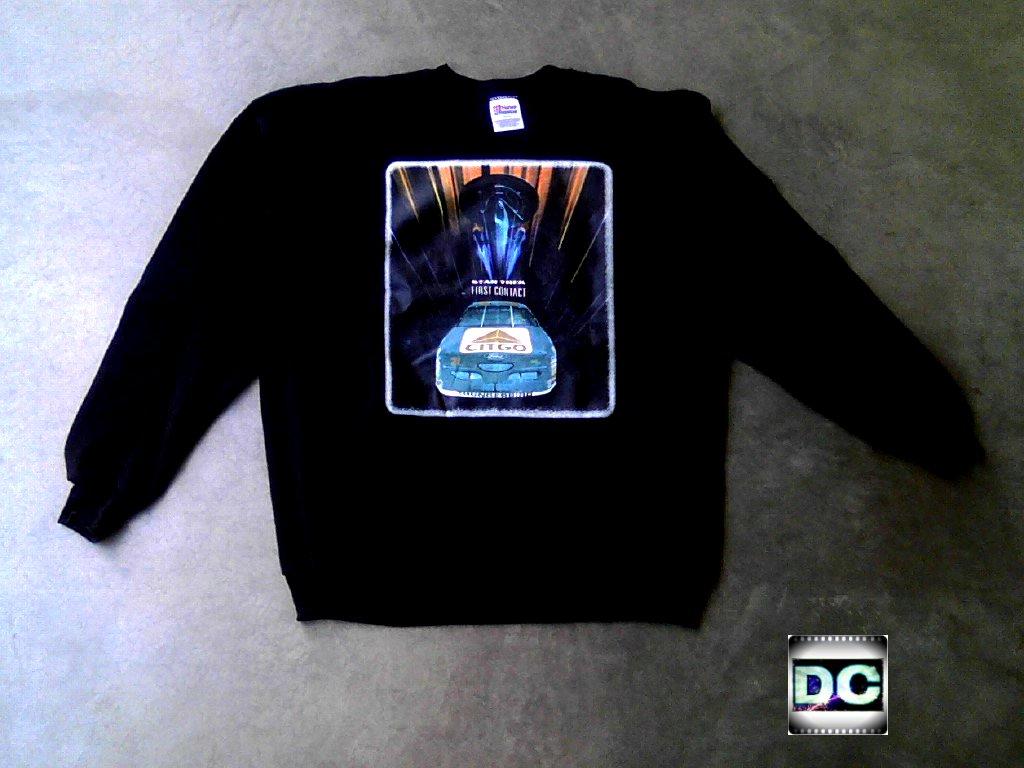 Ultra Rare Vtg Nascar Borg Enterprise 1701-E Crew Sweatshirt, Star Trek Premiere Contest Prize-Citgo