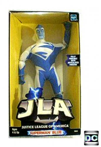 DC Mego WGSH Superman Clothed Action Figure Doll, Blue Retro JLA, World's Greatest Super Heroes