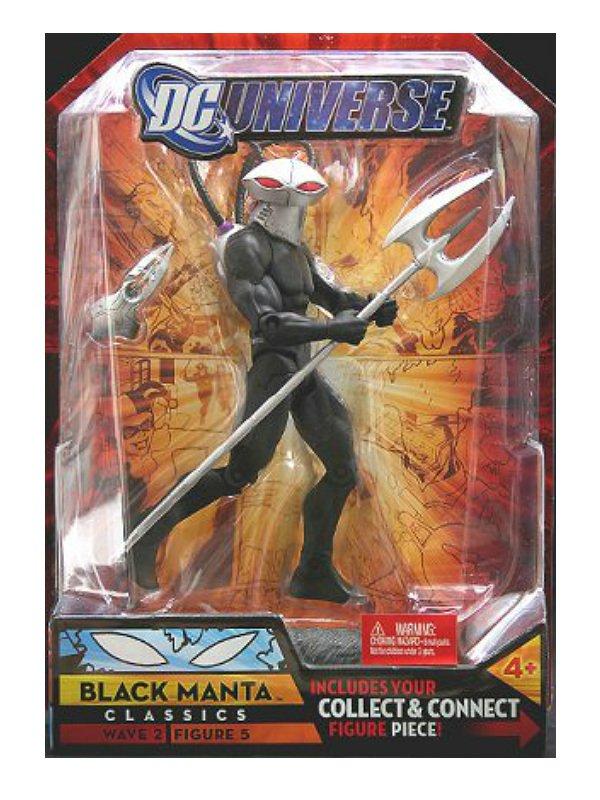 DC Universe Classics M5701 Black Manta DCUC Mattel Wave 2 Figure 5 BAF Grodd {Aquaman, Super Powers}
