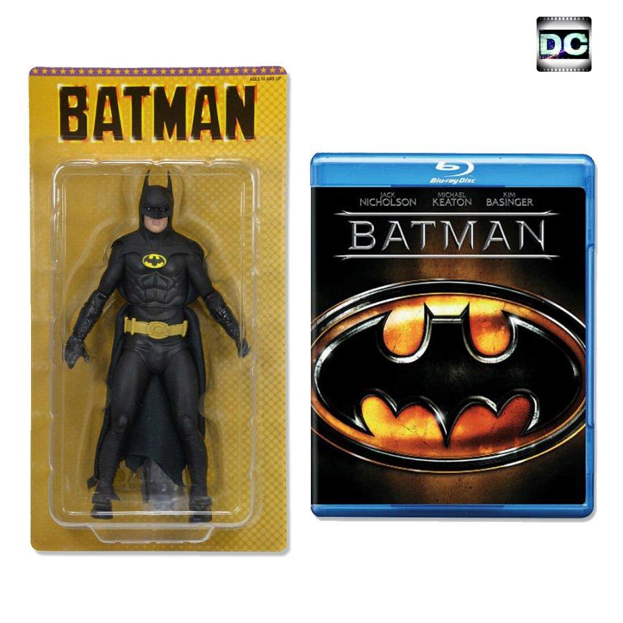 "1989 Batman Keaton 25th Anniversary Neca 7"" Figure & Blu-Ray Disc, WB Reel Toys TRU 2015"
