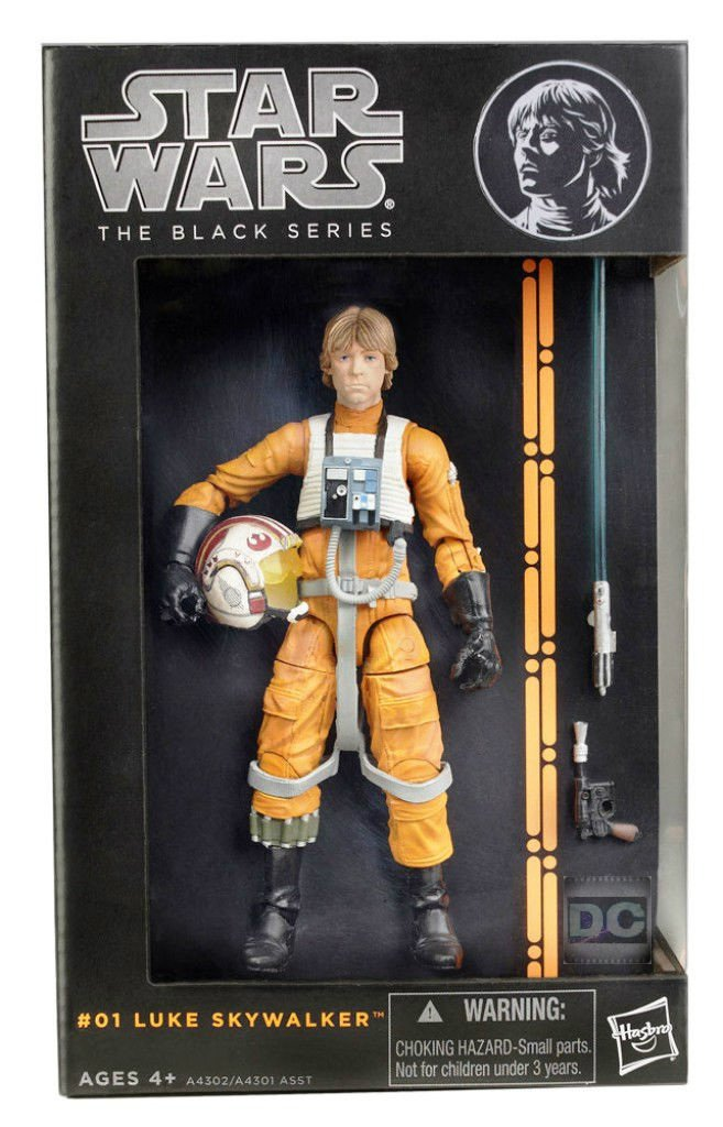 "Luke X-Wing Pilot Black Series 6"" #01 (2013) Star Wars Pre 40th Celebration Hasbro A4302"