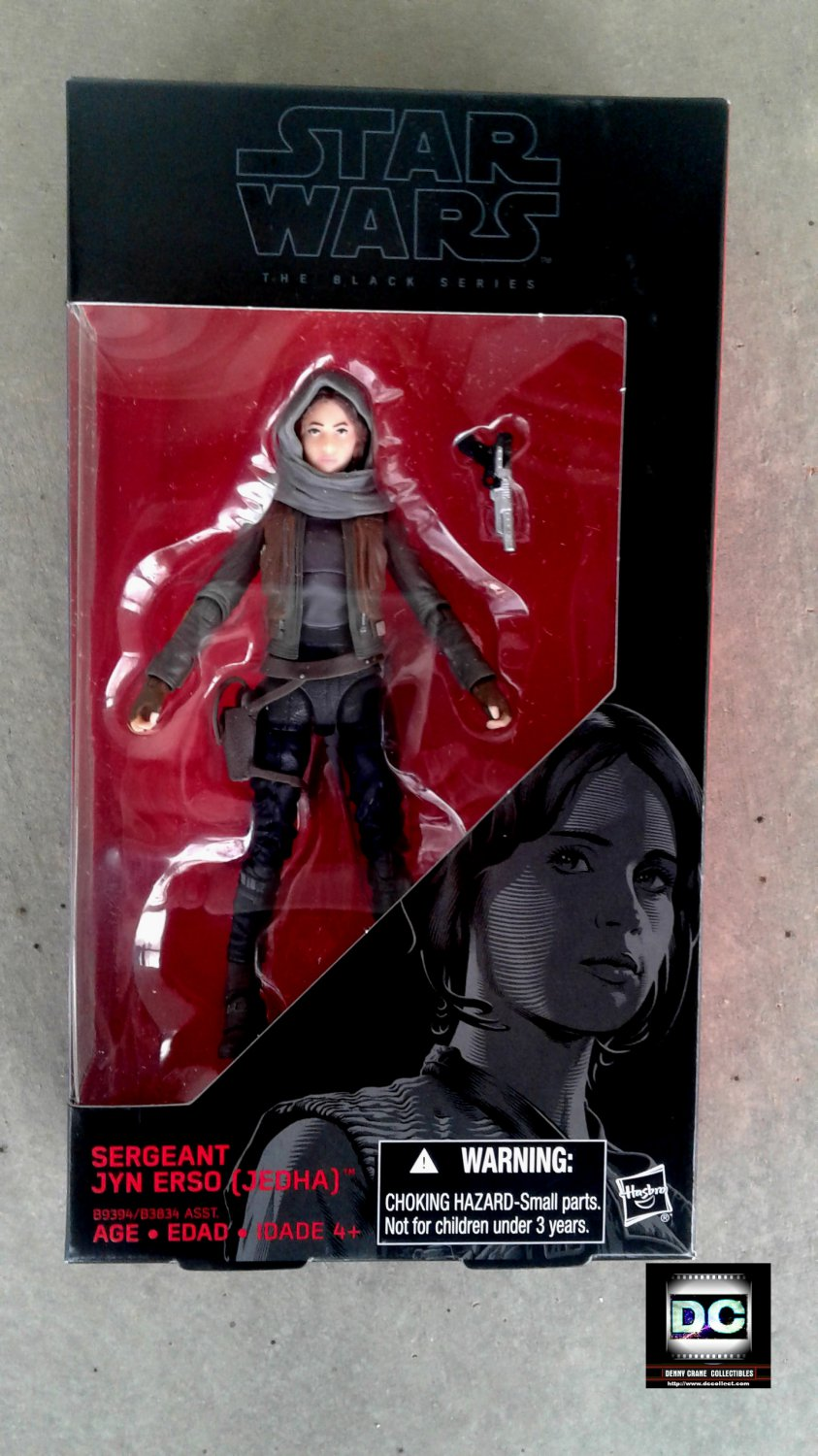 "Star Wars Black Series #22 - Sergeant Jyn Erso Rogue One 6"" Figure B9394 MISB Case Fresh"