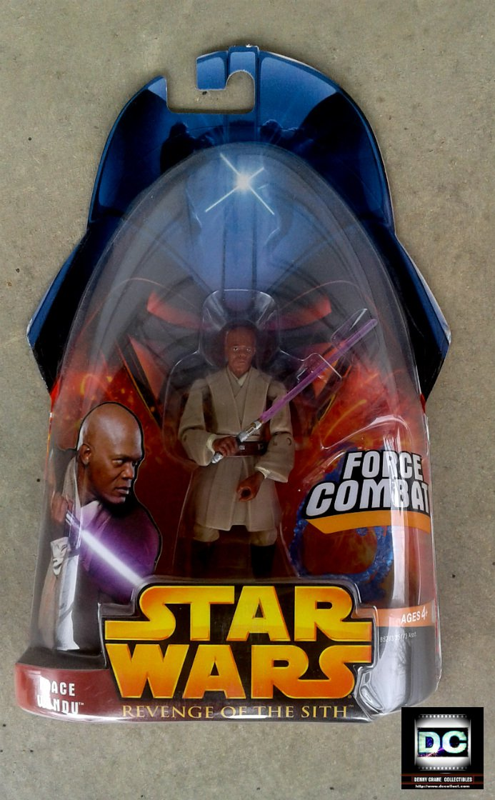 Mace Windu (Jedi Master), Episode 3 RotS #10, 2005 Star Wars 3.75""