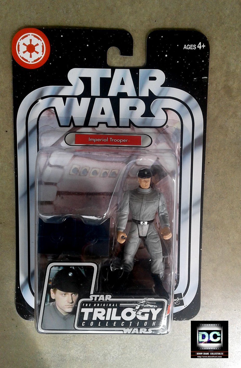 Death Star Imperial Scanning Crew Trooper, Star Wars: ANH OTC #38 2004 Trilogy Hasbro #85447