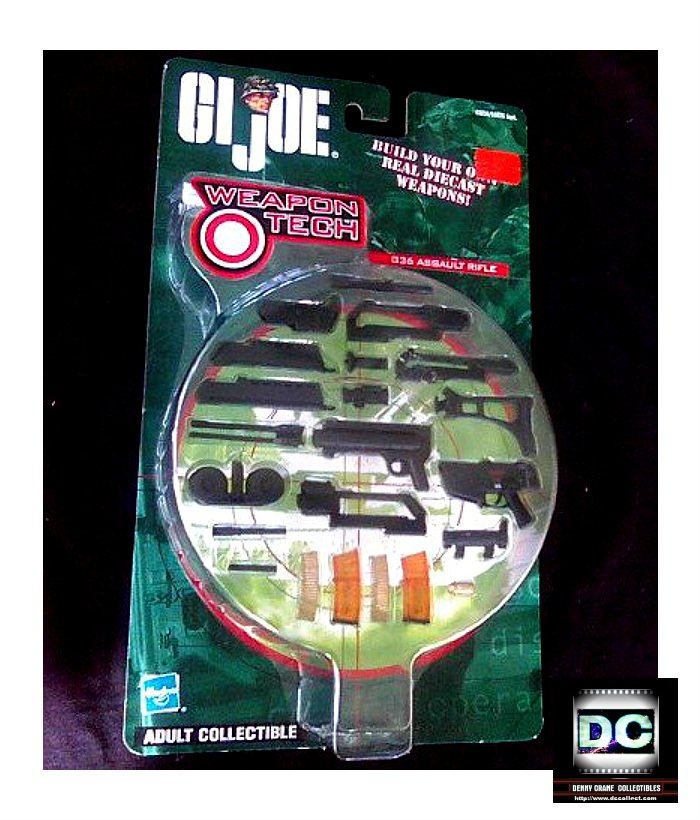 Gi Joe 12in: Weapon Tech Diecast 1/6 Special Forces G36 Military Assault Rifle, Hasbro 2001 2002