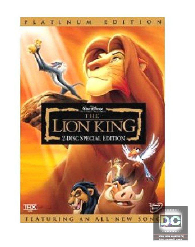 Disney Animation Vault: The Lion King (2-Disc DVD, 2003 Platinum) Sealed OOP wdcc