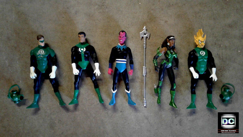 "Green Lantern Corps DC Direct 6.5"" Figure Set Power Battery-DC Universe JLA"